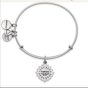 Alex and Ani compass Rafaelian silver bangle , new